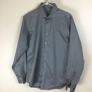Calvin Klein mens gray slim fit shirt 16 34/35